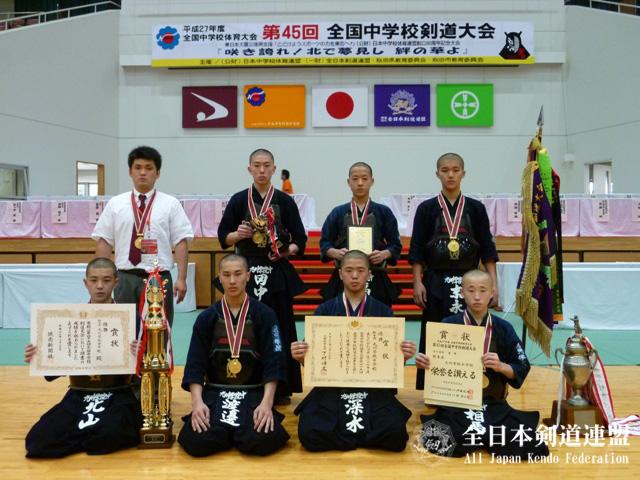 男子団体優勝:九州学院中学校(熊本県)