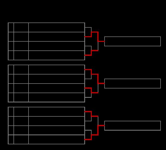 第57回全国選抜少年剣道錬成大会 コート優勝以上のトーナメント